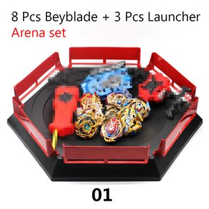 Gold Takara Tomy Beyblade Burst Launcher Bayblade Burst Arean Set Box Blade-Spielzeug Kind Metal Fusion Bey Blades bables neues Geschenk CJ191217