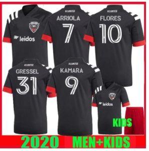 2020 2021 DC Fútbol 20 21 Home Gressel FLORES ARRIOLA KAMARA MLS mujeres y niños camisetas de fútbol KIT DE superior de Tailandia