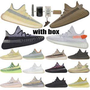 2020 TOP Qualität Kanye West Männer Frauen Laufschuhe Yecheil Yeezreel Hyperspace Lundmark Antlia Static Reflective Zebra-Designer-Schuhe 36-48
