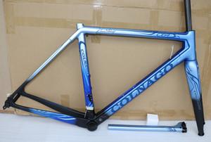 Bleu clair avec bleu foncé T1100 Colnago C64 Carbon Road cadres avec UD Glossy 48-50-52-54-56cm 20 couleurs pour la sélection