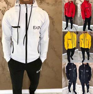Uomo Tute 2020 Set della moda di New Sports Felpa con cappuccio a maniche lunghe sport insieme casuale 2 piece set