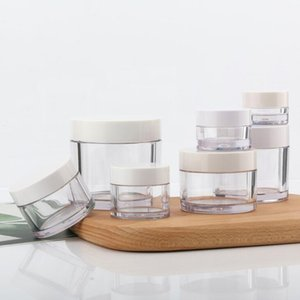 15g 50g Double Layers Empty Cosmetic Jars Refillable Plastic Face Cream Container Skin Care Accessories LX1949