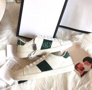 2020 scarpe popolare 100% Ace pelle scarpa da tennis delle donne degli uomini formatori Classic pitone tigre di api sneakers fiori ricamati pene d'amore