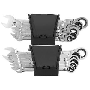 6 PC-Drehmomentschlüssel Set Multiuse zwei Kopf Aktivität Ratchet Getriebe Flexible Maulschlüssel Reparatur-Werkzeuge Bike Kombinationswerkzeug