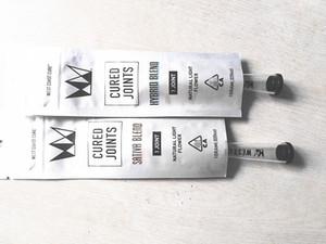 West Coast curado juntas tubos cone de plástico com tira pré rolo embalagem conjunta saco criança zipper resistente comestíveis reseláveis embalagens