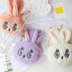 Nooer Kawaii nette Plüsch-Rucksack Geldbörse Kaninchen Umhängetasche Kinder Kinder Schultertasche Geburtstags-Geschenk für Mädchen Y200328