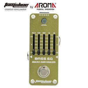 AROMA AEB-3 Gitarreneffektpedal Bass EQ Analoger 5-Band-Equalizer E-Gitarreneffektpedal Mini Single Effect True Bypas Tom'sline