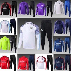 19 20 Manchester traje de entrenamiento hombres Pogba Lukaku Rashford ropa deportiva chaqueta de pie fútbol trotar 20 21 ciudad del fútbol chándal