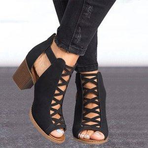 Wedge gladiators women sandals 2020 plus size fish mouth women summer shoes fashion roman sexy high heels sandals ladies VT791 Y200702