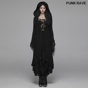 Moda Cadılar Bayramı Cadı Kostüm Kadınlar Kış Triko Gotik Yünlü Hırka kat Retro Parti Kapşonlu Triko PUNK RAVE WM-047BMF