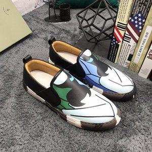 New style high-end luxury leisure sports basketball shoes fashion design brand platform slip-on free lace-up men's shoes Size: 38- 44