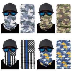 2020 Headband Pipe Head Band Skull Scarf Neck Shield Gaiter Face Mask Sun Men Women Soft Magic Tube Bandana Elastic Fishing Run #193#759