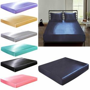 Textiles para el hogar producto sólido de color Volante hoja de cama extra profundo Equipada lámina impermeable colchón de cama Hojas protector de la cubierta de la venta caliente