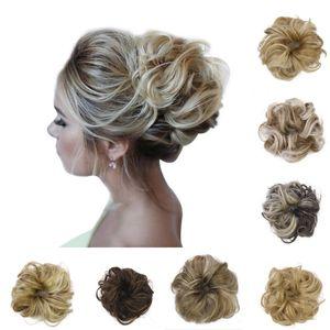 CHIGNONES SINTÉTICOS Pelo Scrunchies Extensiones Pasquía Wrap Ponytail Hair Tail Updo Fake Hair Bun Peinhiece Accesorios