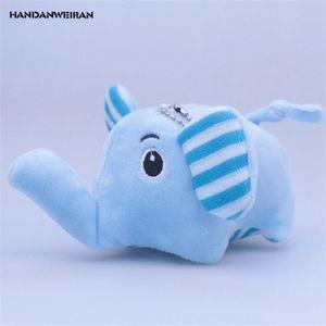 HANDANWEIRAN 1 Unids Algodón Nuevo Kawaii 10 CM Elefante de Dibujos Animados Juguetes de Peluche Colgantes Lindo Regalo Animal de peluche de juguete para la fiesta infantil