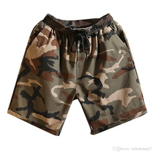 ISHOWTIENDA Shorts Men Casual Trunks Camouflage Printed Graphic Casual Athletic Beach Shorts Summer Men Vetement Homme