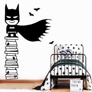 NEW Batman стикер стены декора дома украшения Гостиная Детская комната Виниловые Art Декаль ADESIVO De Parede Adesivi Murali