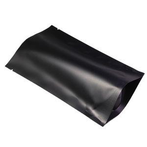 10x16cm (3.94x6.3 بوصة) 100pcs التي الحاجز حرارة ختم حزمة البيع بالتجزئة كيس أسود الألومنيوم احباط مكشوفة الوقوف الحقائب