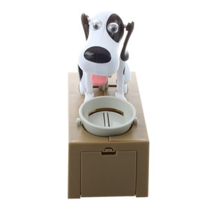 Robotic Dog Puppy Hungry Hound Bank Coin Eating Save Money Box Collection Gift Other Home Decor