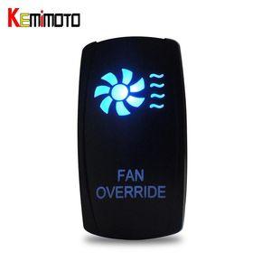 Оптовая продажа-KEMiMOTO для Polaris Ranger 900 800 RZR 4 1000 900 для Can Am BLUE Fan LED Rocker Switch UTV подсветка лебедки IN OUT Switch