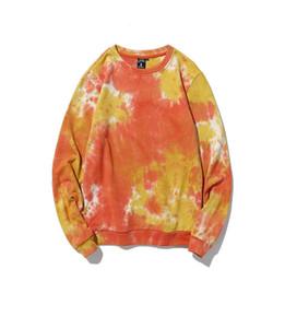 Mens Tie Dye Fashion Hoodies Mann High Street Herbst O-Ansatz lange Hülsen-Paar-Sweatshirts Männer Hiphop-Kleidung