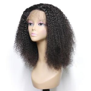 Kıvırcık Dantel Ön İnsan Saç Peruk Siyah Kadınlar Için Ön Koparıp 360 Tam Frontal Bebek Saç Remy Brezilyalı Saç Kısa Bob Peruk