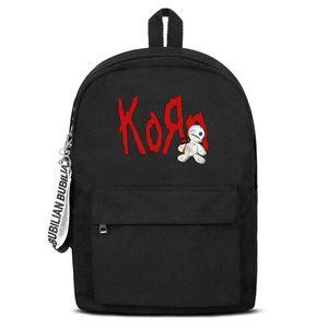 Classique Korn Doll Logo Canvas Bookbag Basic Sac à dos réglable Élève Voyager Daypack Cool-Korn-Logo Korn-CD Untitled-Band Nu