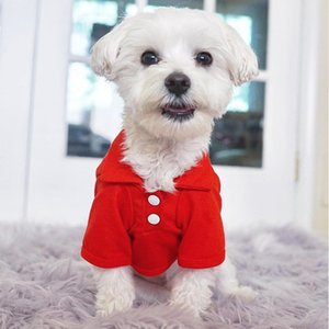 Classic Dog Clothes Pure Color Pets Dogs Clothing Spring Summer Dog Polo Shirt Chihuahua Puppy Costume Clothing for Dogs