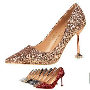 8 Цветов 2020 Новый Ночной Клуб Стиль Леди Сексуальная Вечерняя Обувь Блеск Дизайн Женщин Острым Носом Супер Шпилька Обувь Женщины Насосы