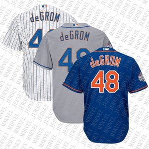 100% bordados baratas do costume Jacob deGrom 2.015 Mundo jerseys costurado Mens camisola Personalizar qualquer número nome MEN XS-5XL NCAA JERSEY
