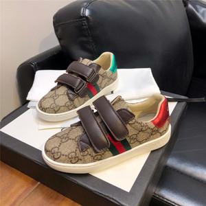 5 estilos Kids Shoes Designer Marca criança meninos e meninas Sneakers couro genuíno Sneakers casual para crianças de alta qualidade sapatos de casamento