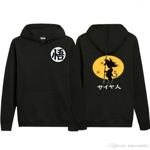 Hoodies Long Sleeve Hip Hop Couples Clothing Dragon Ball Couples Hoodies Designer Characters Printed Drawstring Velveted