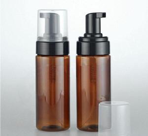 Leeren Bernstein Kunststoff Schäumende Flasche Seifenspender Behälter 3OZ Foam-Seife-Dispense Foam Lotion Pump Flasche New 150ml