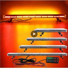 """25"""" до 54"""" LED Strobe Light Bar Пожарной Полиция проблесковая аварийное предупреждение автомобиля Грузовик светового назад W / Тормоз включить свет Amber"""