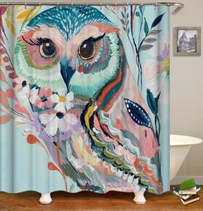 OLOEY Peacock aninal 3D stampa Shower Curtain per schermi bagno privato vasca poliestere impermeabile personalizzato Bagno Decoration