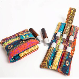 10ml Storage Bag For Bottle Essential Oil Canvas Essential Oil Bag Organizer For Travel Outdoor Accessories 6grids HH9-2145