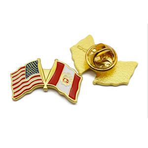 Fabrika Üreticisi Özel Hatıra ucuz Promosyon pazarlama reklam parti ülke konfeksiyon Logo Şirket Bayrağı Adı Rozeti Metal Yaka Pin Rozeti