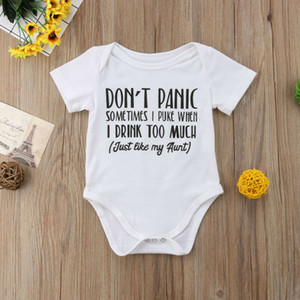 Neugeborenes Baby-Mädchen Short Sleeve Brief drucken I Love My Twins Schwester Bruder Baumwollspielanzug Baby-Outfits Kleidung