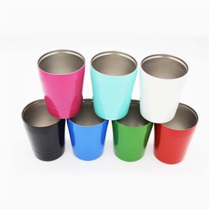Wall Cups 9oz Double Outdoor Baseball Wine 304 Glass Stainless Steel Cups Vehicle Beer MugIUFN