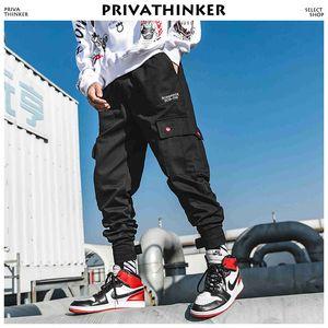 Privathinker Joggers Ankel-length Pantalones de camuflaje 2018 Bolsillos para hombres Pantalones de chándal japoneses Pantalones coreanos masculinos Pantalones de hip hop 4xl SH190705