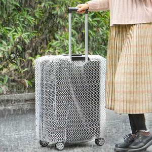Capa de proteção Caso bagagem Safebet Transparente Ultra-grosso PVC Trolley Caso Rainproof resistente ao desgaste