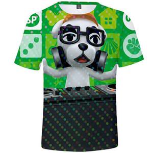 KK T-Shirt Tier Kurzarmshirts Glückliche Wald Kreuzung Spiel-T-Color Kleid Unisex alles Kleidung druckt T-Shirt Größe
