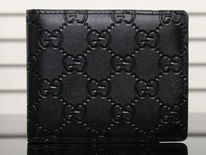Paris mens stile plaid portafoglio famosi uomini di lusso borsa speciale tela più piccolo portafoglio bifold breve