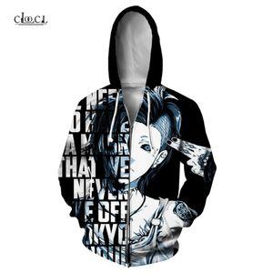 El más reciente de la cremallera con capucha Tokio Ghoul animado 3D Impreso Harajuku estilo unisex de Hip Hop Casual Streetwear Zip Hoodies de los hombres de las tapas Hoddies