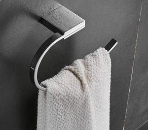 Towel Ring Rack Holder Shelf Wall Mount Bathroom Accessories Bath Clothing Robe Coat Hanger Shelf Chrome Finishes