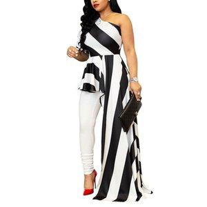 Haoohu Новое Прибытие 2018 Стиль Женщины Платье Напряженная Плеча Половина Shell Женщины Асимметричная Макси Платье Vestido Y19071101