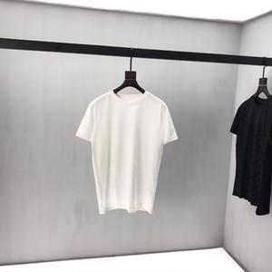 2020ss Francês primavera e verão nova escuro forma high-end padrão de impressão de homens e mulheres de alta qualidade T-shirt top de seda T-shirt venda quente