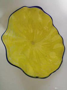 Творческого Популярные Wall Art Glass Plate Рука выдувной Тарелка отеля Гобелен Murano боросиликатного стекло Тарелка для Гобелена