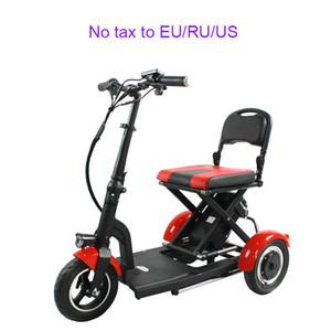 Elektrikli Tekerlekli Bisiklet yetişkin Katlanır Elektrik bisiklet Yaşlı e bisiklet Alüminyum 3 tekerlekli Engelli Bisiklet Lityum Pil alaşım