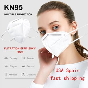 US In Stock Protective Face Mask PM2.5 Anti-fog Strong Protective Mouth Mask 95% Filtration Breathing Mask Dustproof Facial Masks